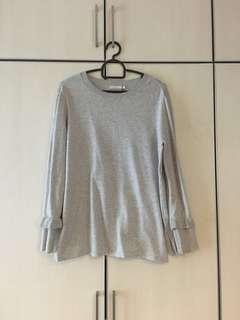 Grey Top with Cuff
