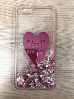 IPhone 6+ pink glitter Cover