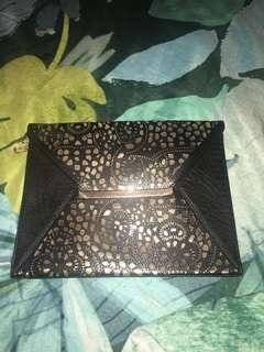 Black/gold clutch