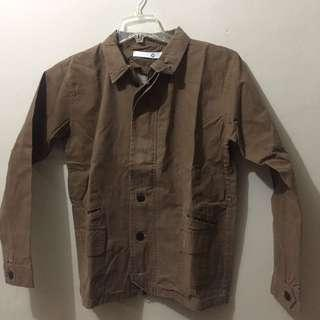 Jaket brown washed