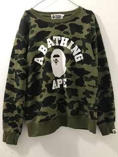 BAPE JAKET SWEATER GREEN CAMO FULL TAG SUPER MIRROR