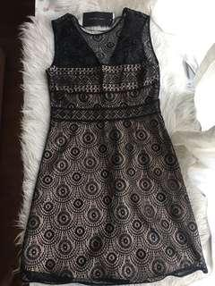 Authentic Brand New with tags Zara Women Black Lace dress
