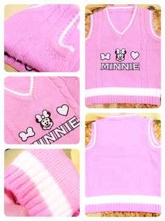 Knit Sweater Vest Pink #rajut#rompi#pink#bajuanak#bajuimpor#bajumurah#ibuhebat