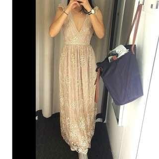 Gold Sparkly Formal Dress
