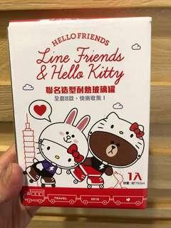 🚚 Line friends&hello kitty 聯名造型耐熱玻璃罐