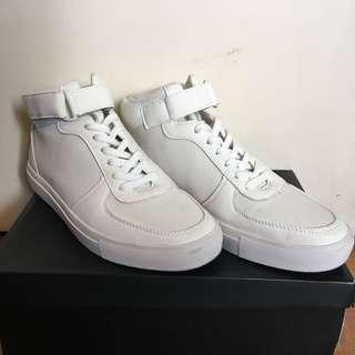 Matt Faux Leather High Top Sneakers