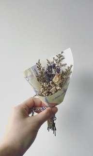 Dried/Preserved Flower Bouquet - watercolour illustration paper wrap