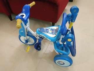 三輪童車,後方折疊桿可後控,約6成新