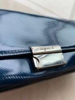 [二手] agnes b 藍色長銀包 購自日本