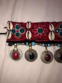 Festival necklace - Bohemian coin & cowry shells