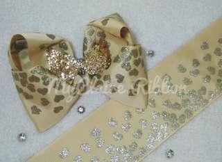 Big Bow Love Glitter Gold