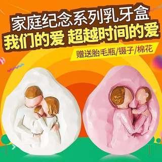日本❤️愛baby树脂乳牙盒 送胎毛瓶鑷子棉花 牙齒保存盒子 纪念品 乳齒盒 乳牙收存收藏 兒童成長紀念品 兒童個性收藏