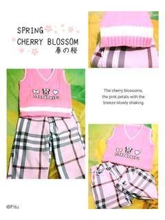 Set 2 - Sweater Vest Pink + Burberry Pink Pants #knit#rajut#celana#burberry#bajuanak#setmurah#ibuhebat