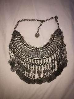 Festival necklace - Bohemian coins