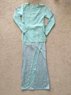 Mint Customed Baju Kurung Moden