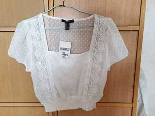 Brand new ivory top fm Forever 21
