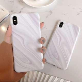 [PO] white marble iphone case