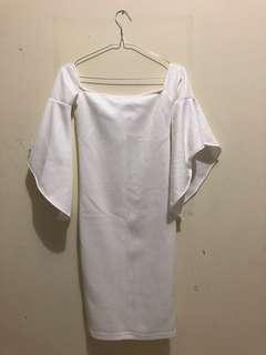 White bodyfit dress