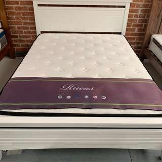 White modern affordable cheap prices bed frame