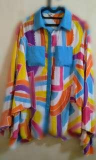 Blus motif pelangi