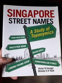 Singapore street names Victor R Savage Brenda S A Yeoh