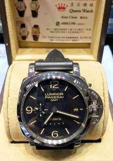 Panerai PAM00553 GMT 44mm 10日鍊 行貨 自動 2018年錶 Full Set〈Sold Out〉