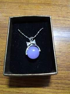 🚚 藍紫色 摩根石項鍊 蝴蝶結
