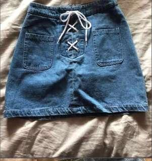 Editor's market denim skirt