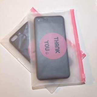 🚚 全新 iPhone 7/8plus 黑色全包軟殼手機殼/ 7/8黑色/透明全包軟殼手機殼 贈可愛實用防水夾鏈袋