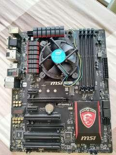 Intel 5th-4460 gen processor with MSI H97 gaming motherboard