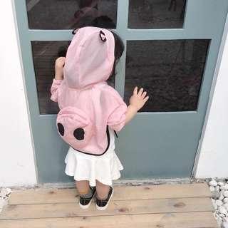 🌸現貨🌸2019春夏新品 韓國原單男女童超萌小熊猫空調衫 皮膚衣 兒童防曬衣 透氣夏季海邊沙灘小寶寶皮膚衣