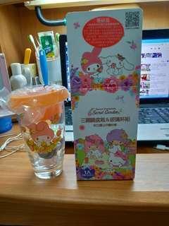 🚚 三麗鷗盆栽玻璃杯