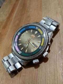 中古Orient 東方錶大装金面