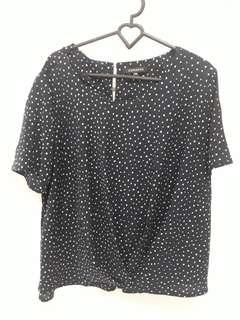 Preloved Polkadot Blouse XXL