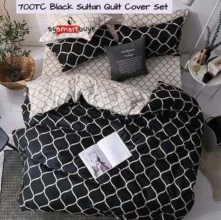 POPULAR HIGH QUALITY FITTED BEDSHEET QUILT COVER SETs