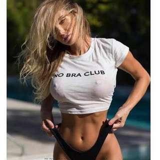 NEW- No Bra Club crop top size 8