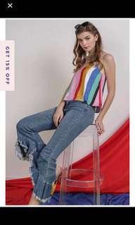 Sperry Top in Rainbow