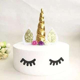 Unicorn Cake Toppers & Cake Eye Lashes