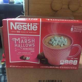 現貨* Nestle Hot Cocoa mix 棉花糖朱古力 6包,豐富牛奶朱古力味,大人小朋友都喜歡