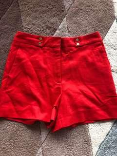 🚚 Zara coral shorts M