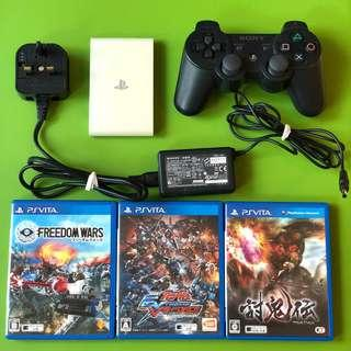 Sony PSVita TV v3.70 rare PSV TV with 3 games and controller