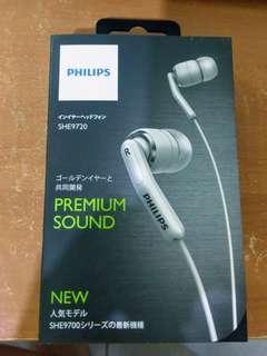 PHILIPS 飛利浦 SHE9720 耳塞式 耳道式 耳機