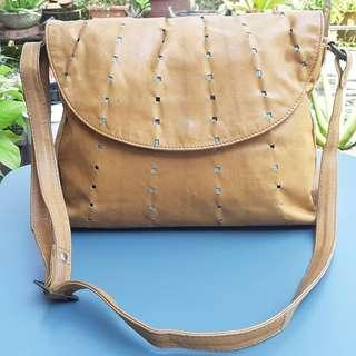 ACCESSORIZE GENUINE LEATHER SLING BAG