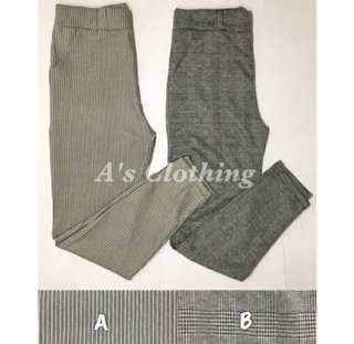 plaid trousers/pants