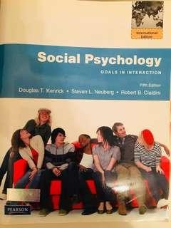 Social Psychology goals in interaction (5th ed.) 80% new