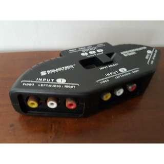 Soundtech 3 ways Composite RCA AV Audio Video Selector Switch Box Splitter