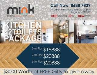 KITCHEN & 2 TOILETS PACKAGE