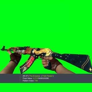 AK-47 EMPRESS FT FIELD TESTED THE CSGO SKIN KNIFE SKINS GLOVE GLOVES KEY KEYS AK47 AK 47