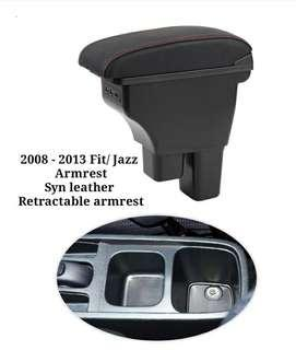 Honda Fit/ Jazz Armrest 2008-2013 model retractable syn cow leather