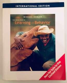 Learning & Behavior 6th ed. By Domjan 80% new